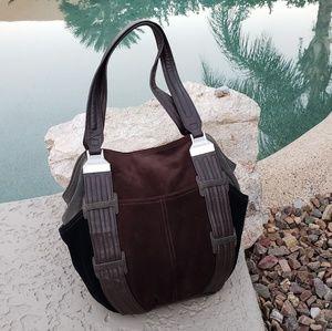 Tignanello Bags - Tignanello EUC brown suede leather hobo bag